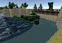 Dock with ships 3