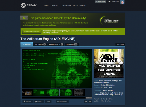 ADLENGINE HAS NOW BEEN GREENLIT