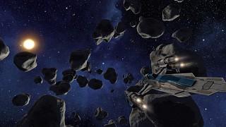 TPG Raptor in Asteroid Field