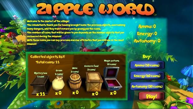 Zipple World - village market