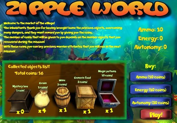 Zipple World - the village market