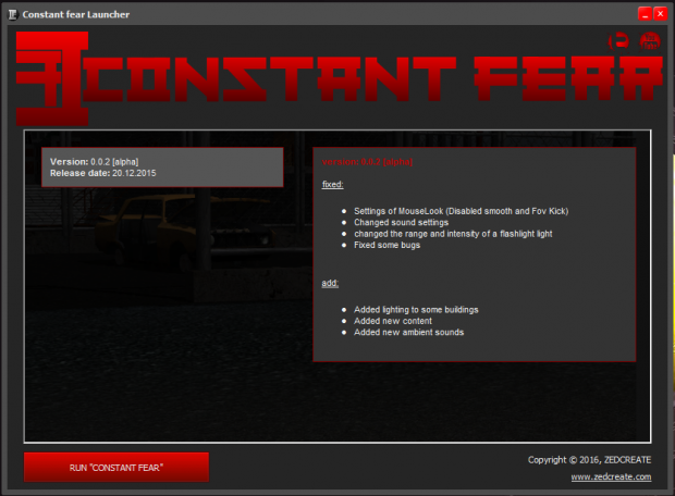 Constant fear launcher