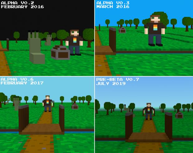 Vloxelworld graphic evolution
