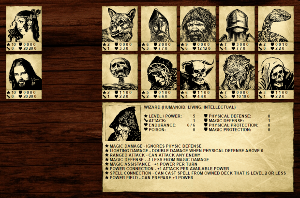 Fantasy Dimension - Wizard card