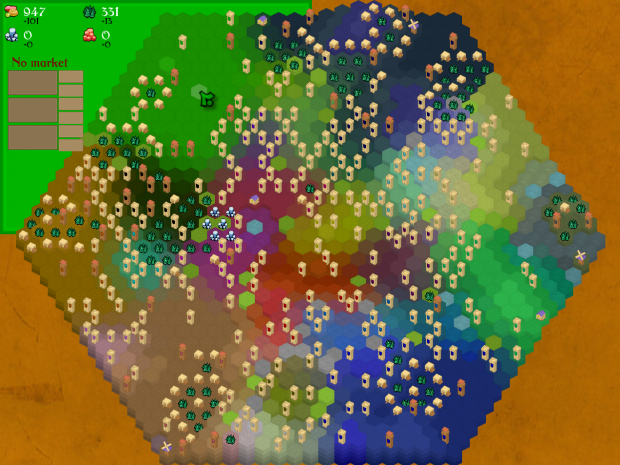 A medium map with 27 players.