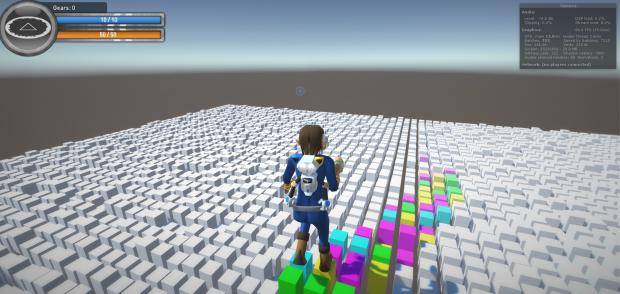 Level Floating Cubes
