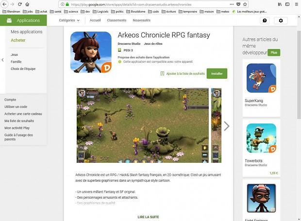 arkeos chronicle on Googleplay