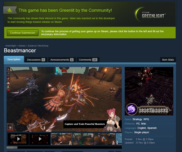 Beastmancer Greenlit!