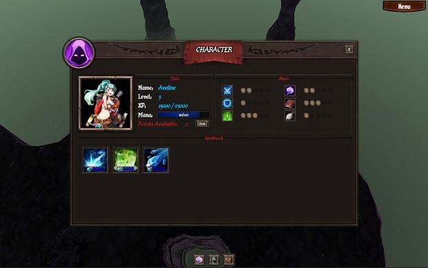 Character UI Panel