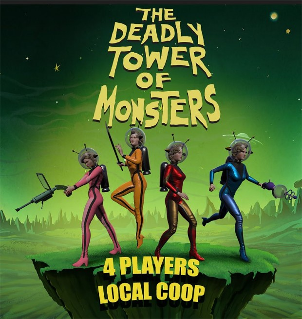 The Deadly Tower of Monsters 4 players co-op