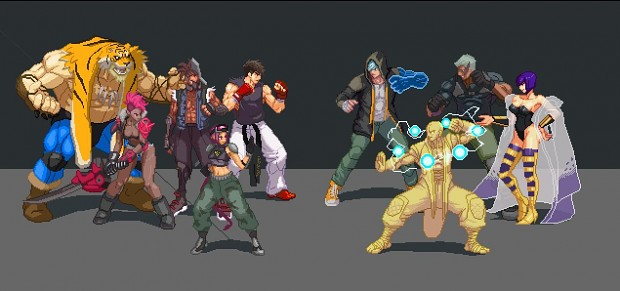 updated roster and sprites