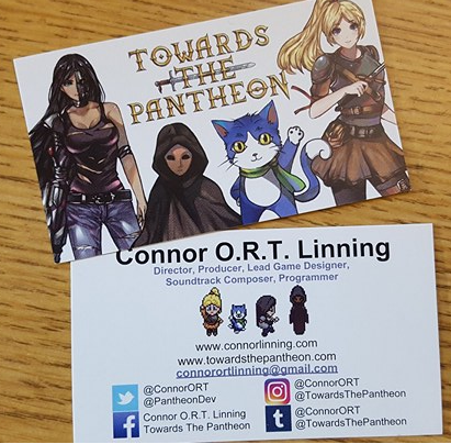 Towards The Pantheon Business Cards