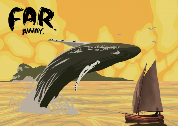 Far (Away): sailing boat and whale