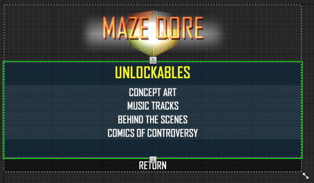 Unlockables Menu