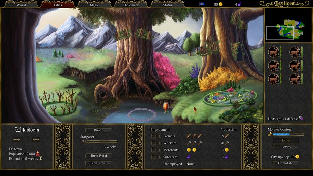 Leylines - Elf City Screen