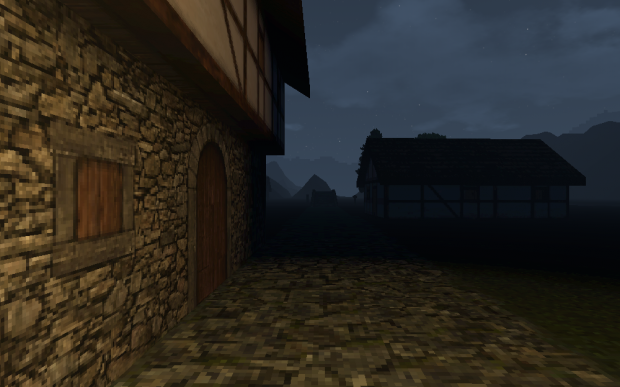 Ergendon village - night (WIP)