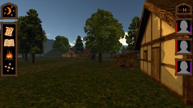 UI, custom tree shaders and tweaked lighting