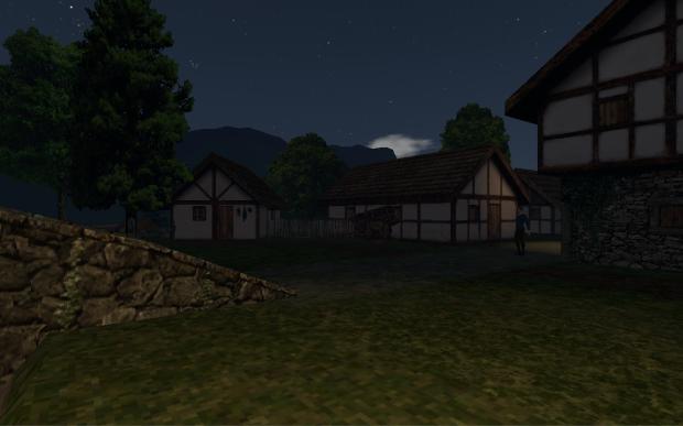 Ergendon village - night (WIP)