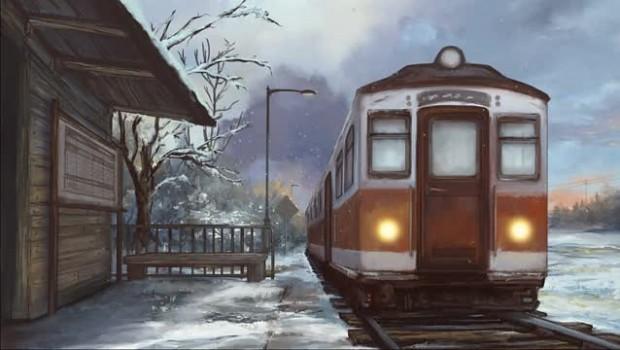 Ren'Py Train Station 1 Winter Animated BG