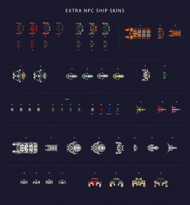 Extra ship skins