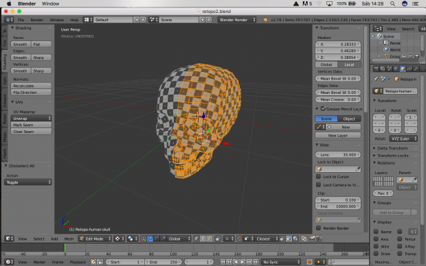 Making a texturized human skull
