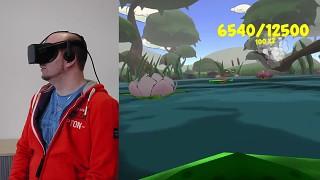 Playing ByteRockers' VRog on Oculus Rift