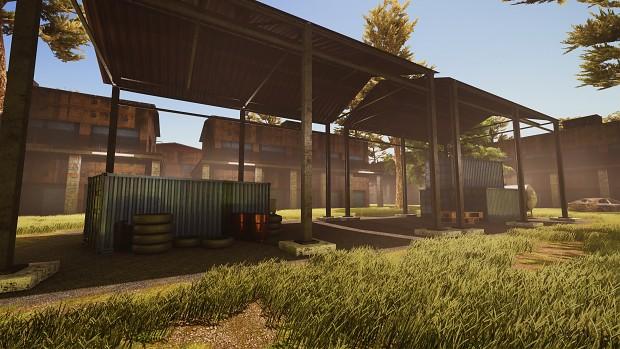 Overgrown Warehouse Area