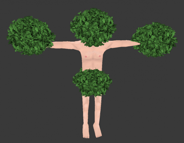 Trying out leaf designs for trees
