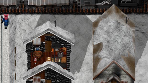 Interior building and gameplay