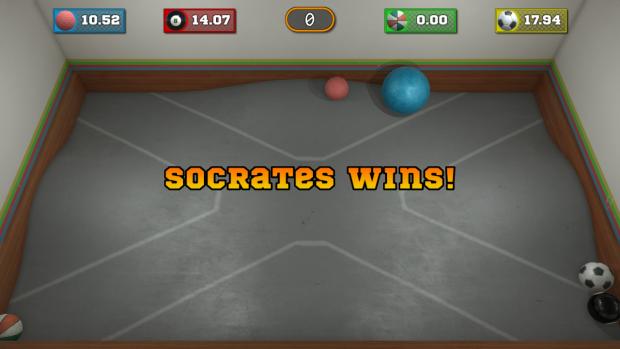 Mini-game over screen