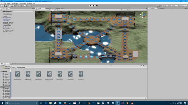 Final terrain in Unity