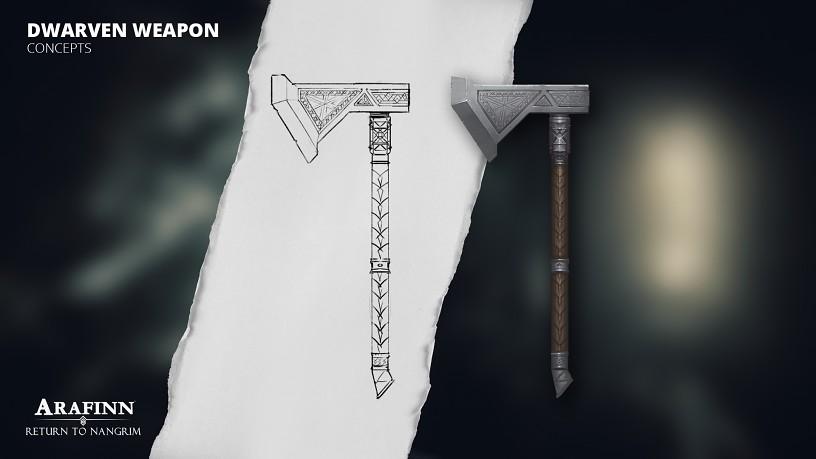 Dwarven Weapons - Battle Axe