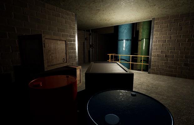 Dark maintenance area