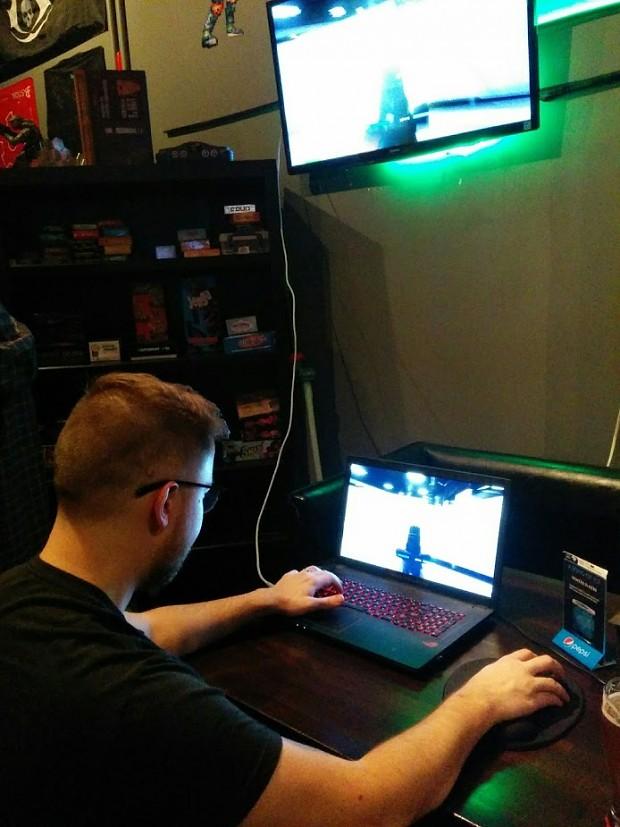 Squad Devs playing the prototype demo