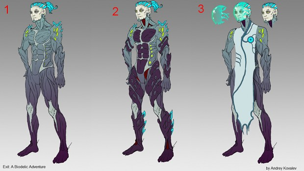 New sketches of the protagonist (by Andrey Kovalev)