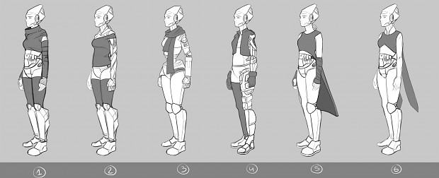 Shift Quantum Concept art robots