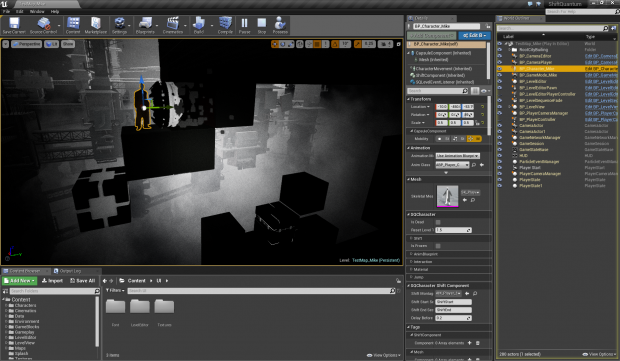 Screenshot in Unreal Engine 4
