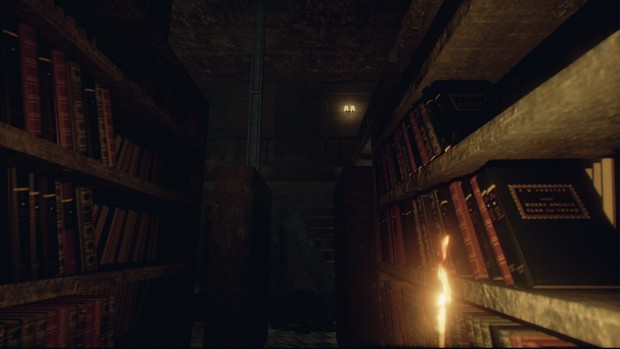 An eerie silence dominates the library.