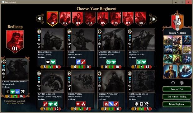 Choose Your Regiment (Deck Builder)