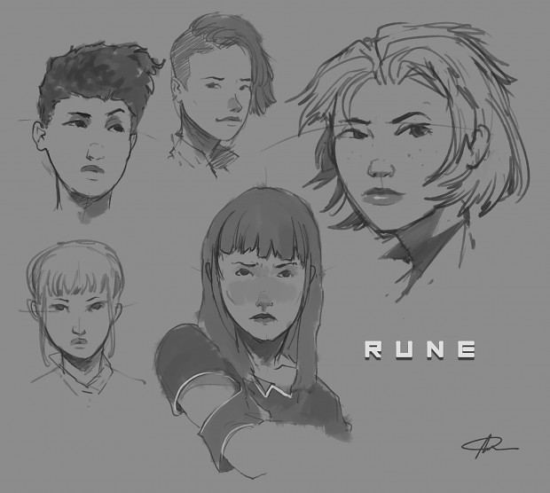 Rune Face Sketches