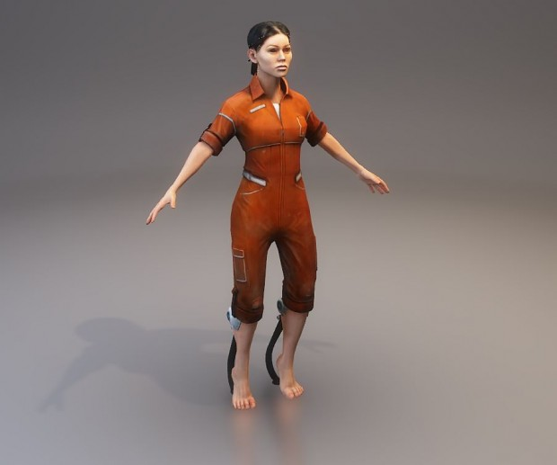 Chell in T-Pose (05/26/2017)