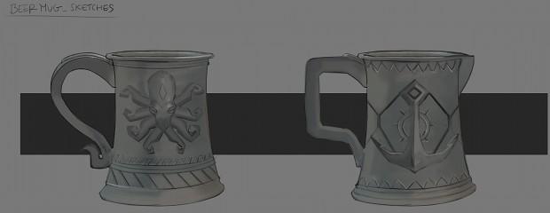 Beer mug sketches