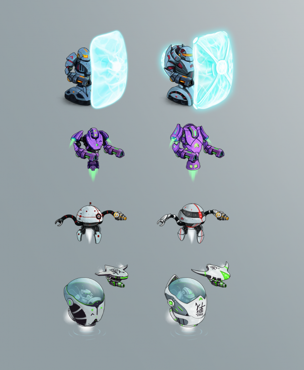 Armor upgrade for the robots
