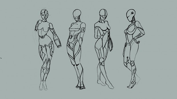 Concept art for Women robot