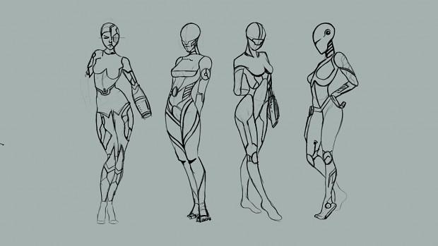 Concept art for Women robot