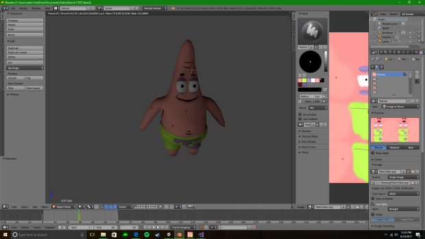 I did a couple of changes to patrick and fixed his skin some