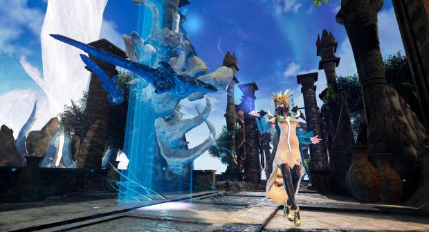 Tutorial screenshto with wizard summoning golem