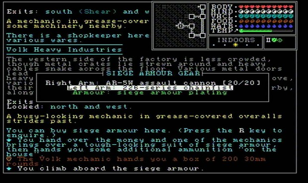 Mech siege armour test (July 2017)