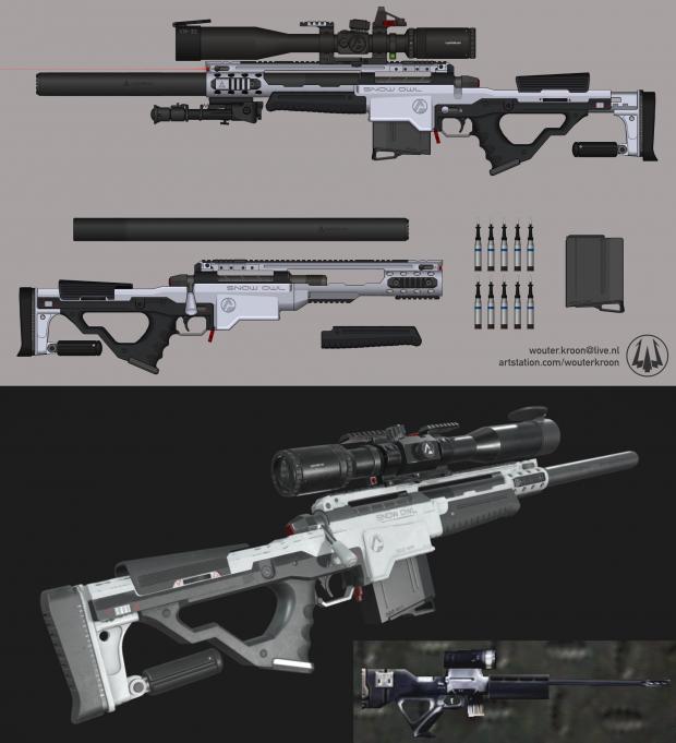 "Sniper Rifle - ""Snow Owl"""