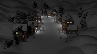 Low poly village